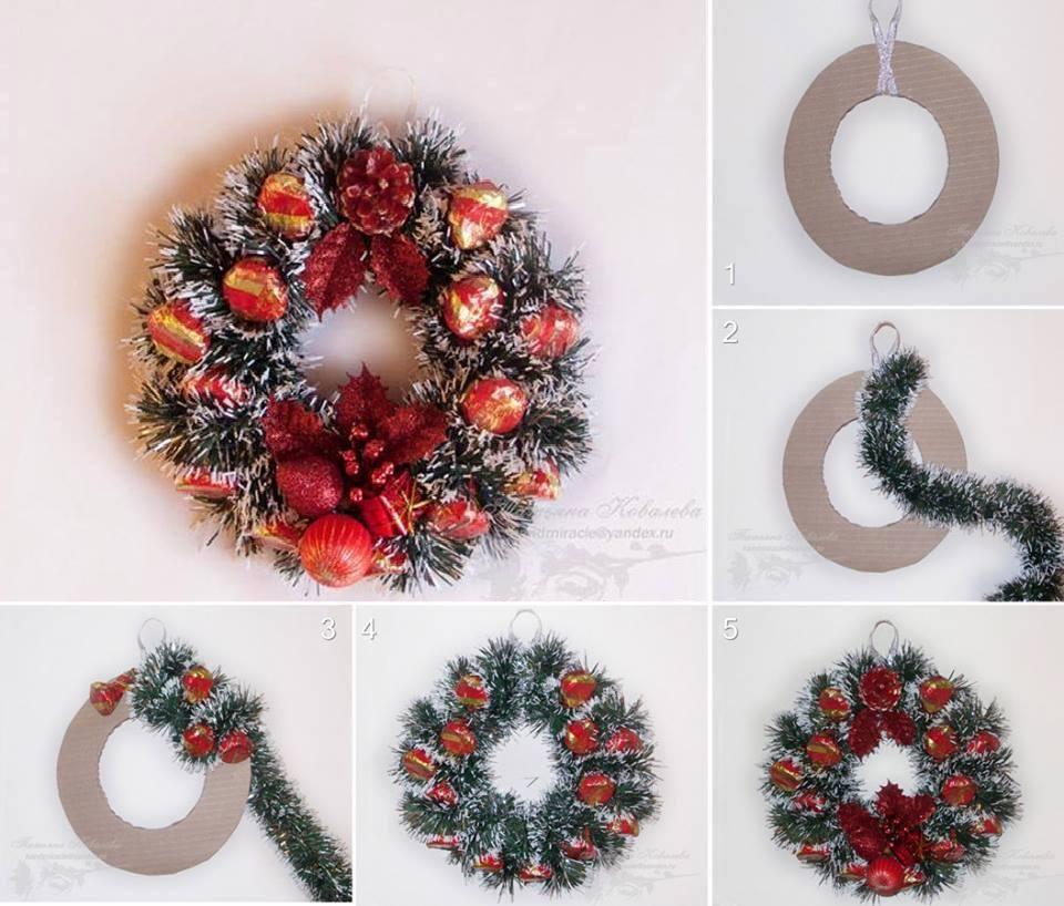 Come fare ghirlanda natalizia spettegolando - Corone natalizie da appendere alla porta ...