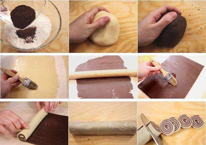 Come fare biscotti girandola bicolore - Spettegolando