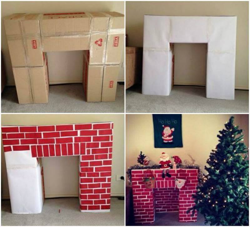 Christmas Fireplace Decoration Diy In Classroom