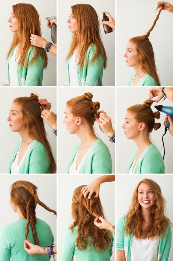 Fare i capelli mossi con lo chignon