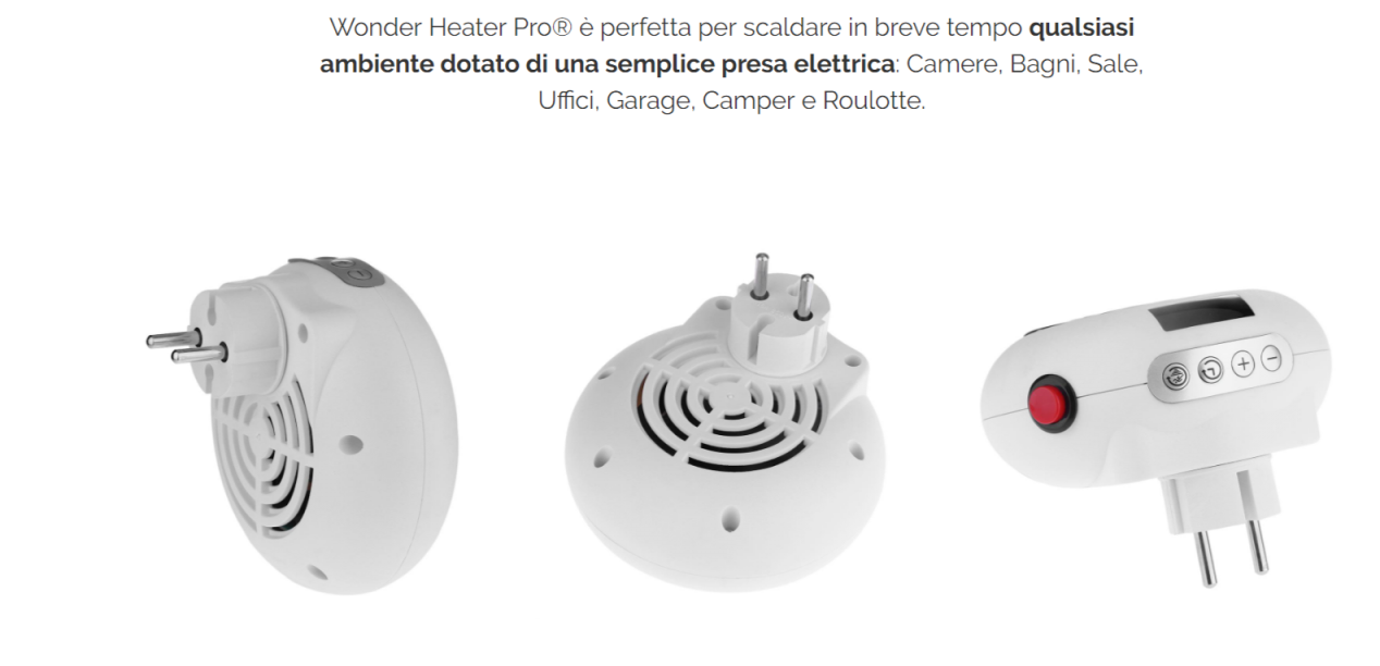 Wonder heater pro stufa elettrica portatile a basso for Stufa elettrica handy heater opinioni