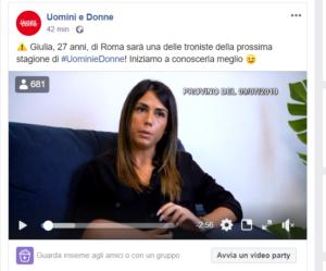 Giulia è la nuova tronista di Uomini e Donne stagione 2019/2020: ecco chi è