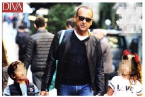 Carlo Conti a passeggio con la figlia di Fabrizio Frizzi: