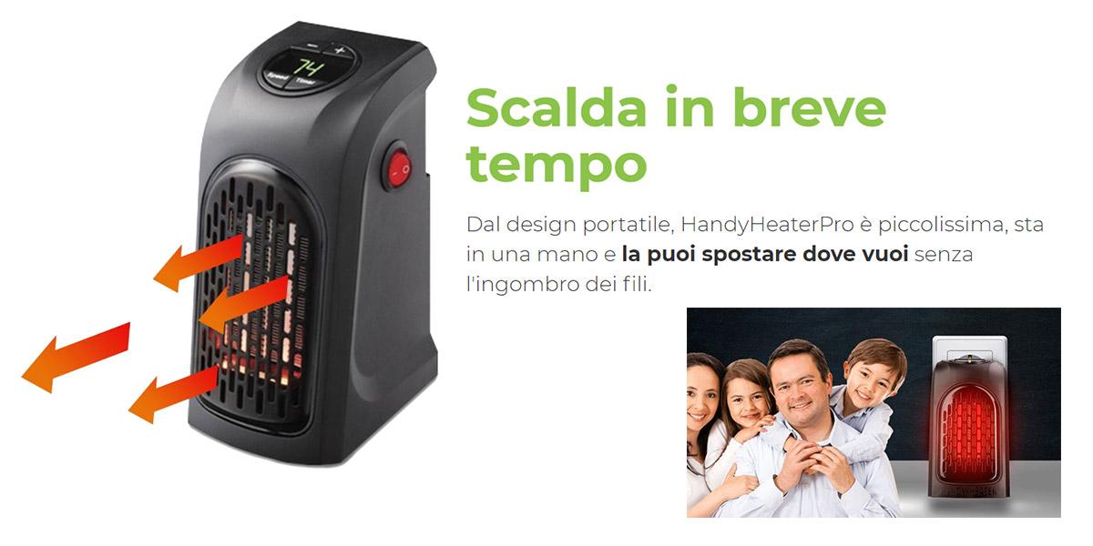 Handy heater pro stufa elettrica portatile a basso for Stufa handy heater recensioni