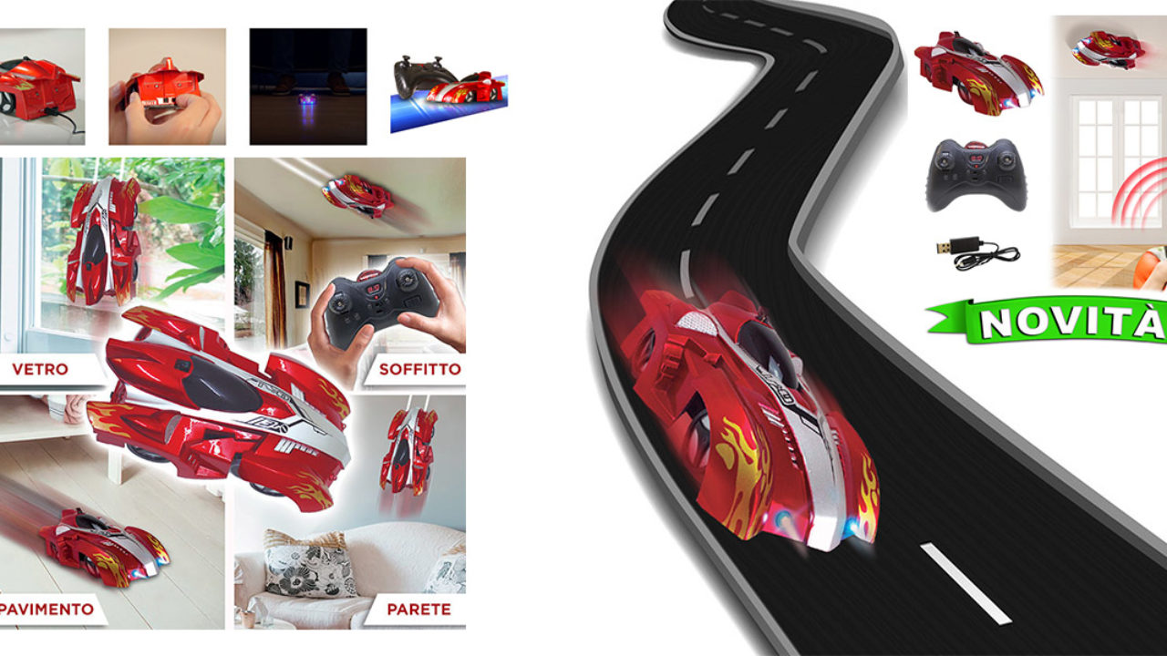 SpiderCar: macchina telecomandata antigravitazionale che si