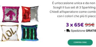 Sparkling Pillow: cuscino d'arredo scintillante con paillettes, dovo comprarlo? Caratteristiche ed opinioni