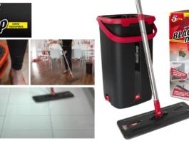 Black Mop Plus: kit pavimento con mocio e secchio per lavaggio e asciugatura, funziona davvero? Caratteristiche, opinioni e dove comprarlo