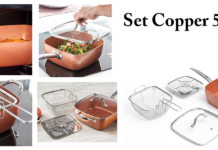 Set Copper 5 in 1: padella multifunzione per friggere, cucinare a vapore e in forno, funziona davvero? Caratteristiche, opinioni e dove comprarla