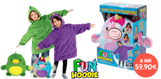 Fun Hoodie: morbidi peluches che diventano calde felpe per bambini, cosa sono? Caratteristiche, opinioni e dove comprarle
