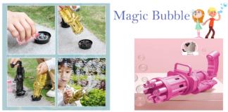 Magic Bubble: pistola spara bolle con otto fori, funziona davvero? Opinioni, offerta, prezzo e dove comprarlo